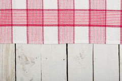 Napkin over planks Royalty Free Stock Photo