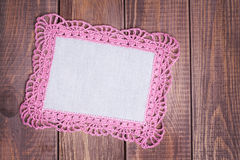 Napkin with pink lace Royalty Free Stock Photo