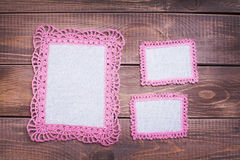 Napkin with pink lace Royalty Free Stock Image