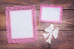 Napkin with pink lace Stock Photography