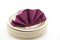 Napkin with plate Stock Photos