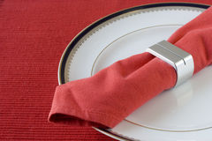 Napkin on the plate Royalty Free Stock Photography