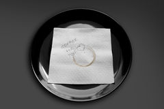 Napkin on a plate Royalty Free Stock Image
