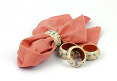 Napkin and Rings Delicate Design Royalty Free Stock Photography