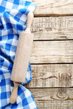 Napkin and rolling pin Royalty Free Stock Photos