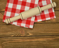 Napkin and rolling pin Royalty Free Stock Photo