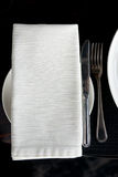 Napkin and silverware Stock Photos