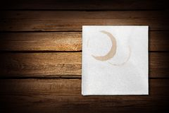 Napkin Stain Royalty Free Stock Photo
