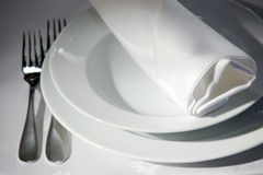 Napkin on tables Royalty Free Stock Photography