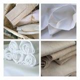 Napkin and tea towel Stock Image