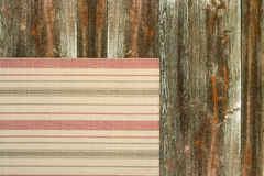 Napkin on wooden table Stock Image