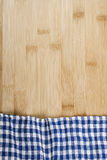 Napkin on wooden table Royalty Free Stock Images