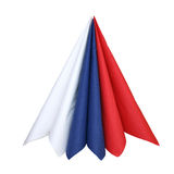Napkins. Of colours of a flag of Russia separately on a white background Royalty Free Stock Image