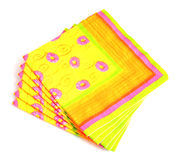 Napkins. Paper hand made floral napkins stock photo