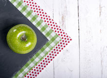 Napkins with an apple Stock Image