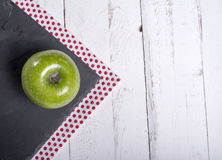 Napkins with an apple Stock Photo