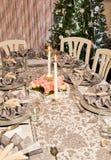 Napkins on a christmas table stock images