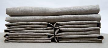 Napkins gray folded creatively Stock Image