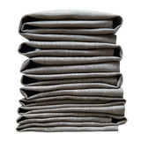 Napkins gray folded pile isolated on white background Stock Image