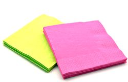 Napkins green and violet Stock Image