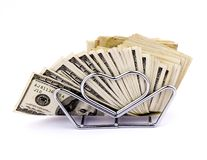 Napkins of hundred dollars Royalty Free Stock Image
