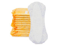 Napkins isolated. On white background - healthcare and medicine royalty free stock photo