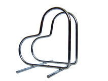 Napkins a kind of hearts. Beautiful metal support for napkins a kind of hearts stock image