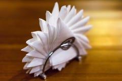Napkins in the napkin holder. Stock Photography