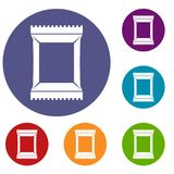 Napkins pack icons set Royalty Free Stock Photos