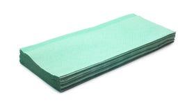 Napkins. Paper napkins isolated on white royalty free stock photo
