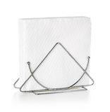 Napkins in a stand close-up isolated Stock Photo