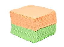 Napkins on white background Royalty Free Stock Photography