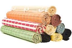 Napkinss de bambú coloreados Imagenes de archivo