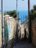 Naples - Access road to Gaiola Stock Images