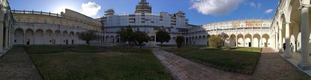Naples - aperçu du cloître de San Martino photos libres de droits