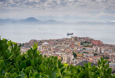 Naples bay from the garden of Certosa di San Martino Royalty Free Stock Images