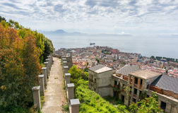 Naples bay from the garden of Certosa di San Martino Stock Photography