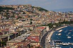 Naples bay, Italy. Naples Italy Skyline and Bay Royalty Free Stock Photography