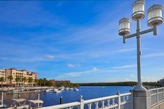 Naples Bay marina in florida USA Royalty Free Stock Photography