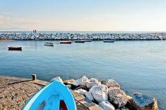 Naples bay with Mediterranean sea Stock Photos