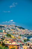 Naples bay scenic view, Italy. Royalty Free Stock Photography