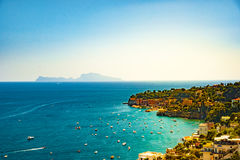 Naples bay scenic view, Italy. Royalty Free Stock Image