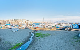 Naples bay view from Mergellina - Italy Royalty Free Stock Photo