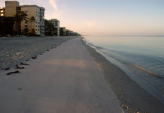 Naples beach in the morning. Naples, Florida sandy beach in the morning Royalty Free Stock Photos