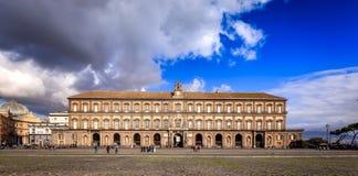 Naples Biblioteca Nazionale Vittorio Emanuele III Arkivbilder