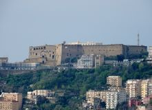 Naples - Castel Sant`Elmo from Capodimonte stock photo