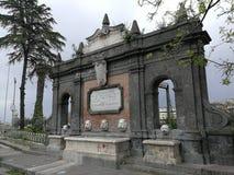 Naples - Fountain of the Duchess Regina Elena stock photography