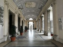 Naples - Porch of the Incoronata Basilica royalty free stock images