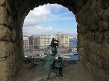 Naples - The Gallo of Castel dell`Ovo royalty free stock photos