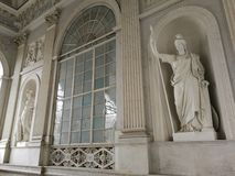 Naples - Statues of the Grand Staircase of the Royal Palace stock photo